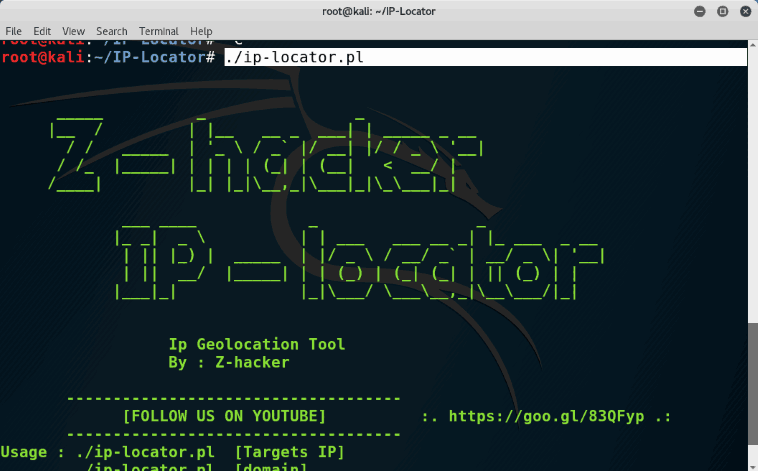 How to track mobile phone using ip adress - ip-locator kali linux
