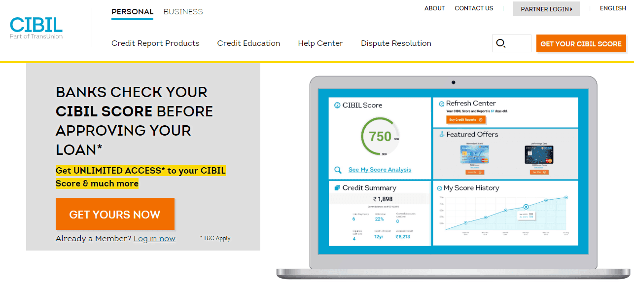 How To Check Cibil Score Online Free