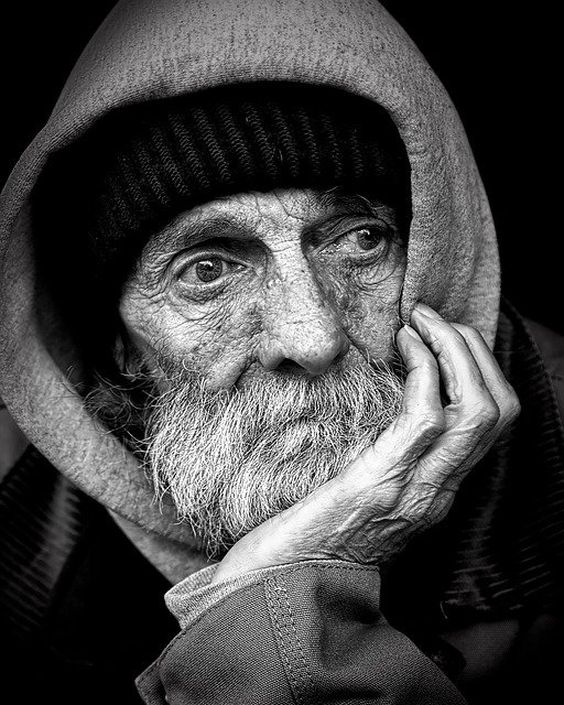 homeless, man, poverty