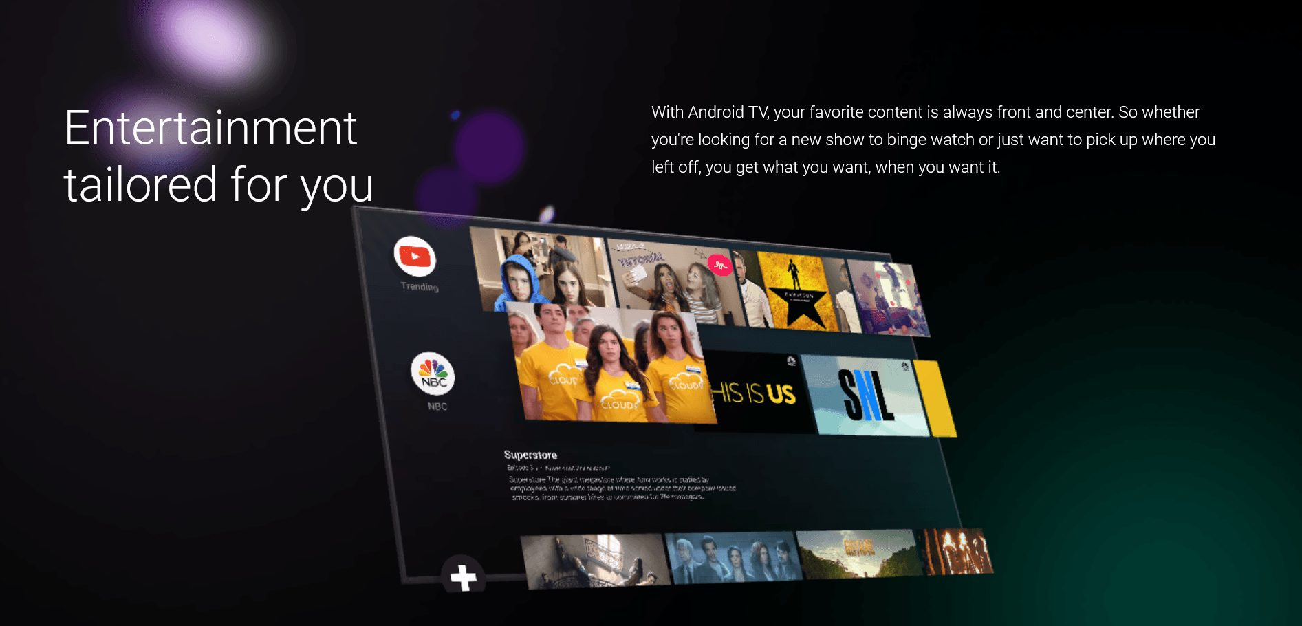Redesigned Play Store on Android TVs