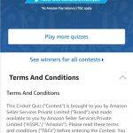 Amazon Cricket Quiz