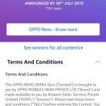 Amazon OPPO Reno Quiz