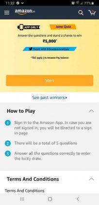 Amazon June Quiz Done