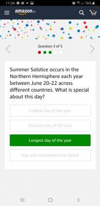 Amazon June Quiz Answer 3