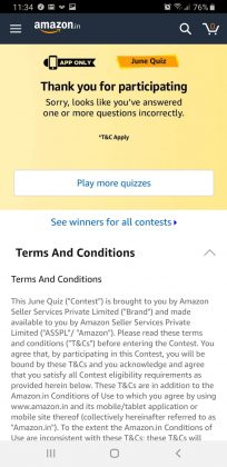 Amazon June Quiz