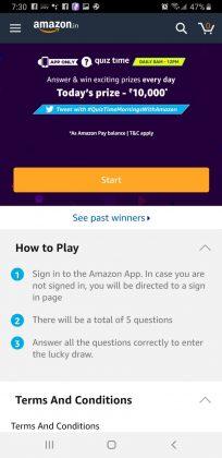 Amazon Quiz Time June 13th, 2019 Start