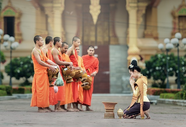 monks, praying, prayer
