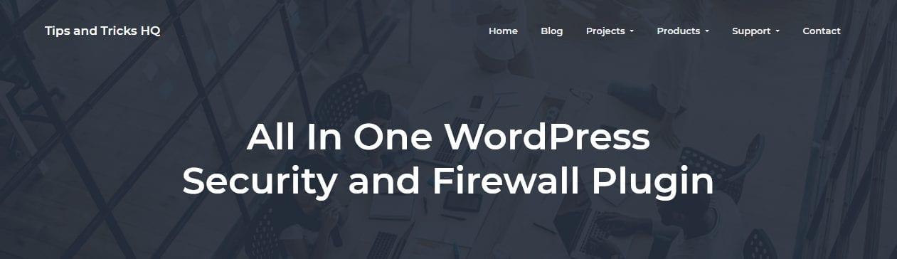 All In One WordPress Security and Firewall Plugin