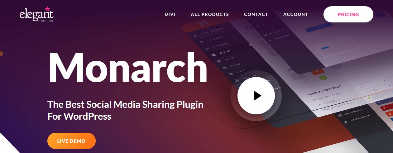Monarch Social Sharing Plugin For WordPress
