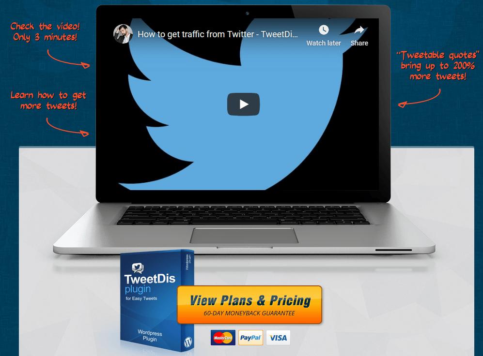 Tweetable Quotes, Click To Tweet Links TweetDis Plugin