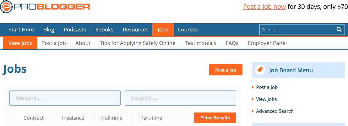 Jobs - ProBlogger Jobs