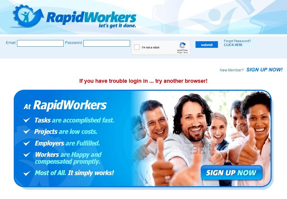 Make money online - RapidWorkers