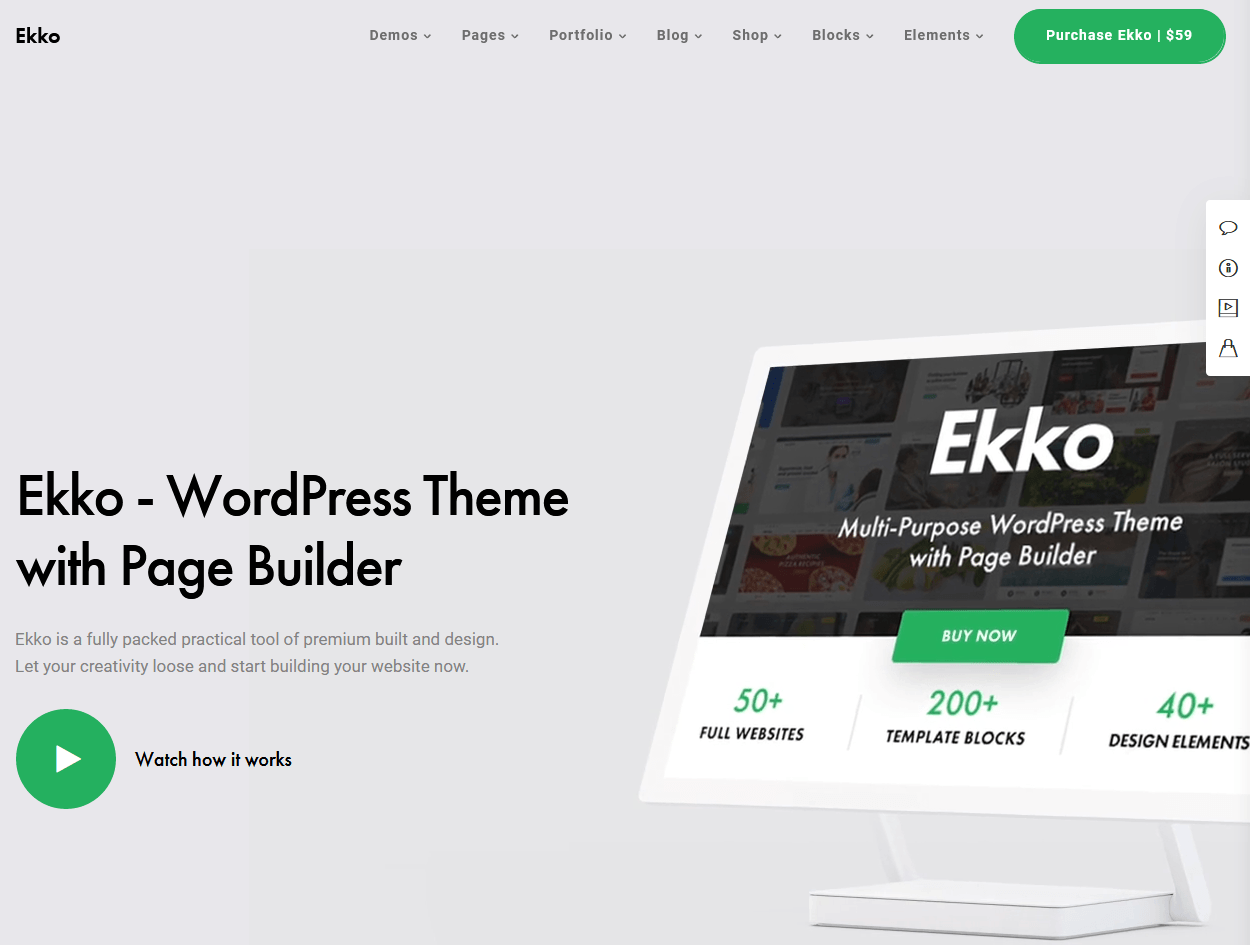Ekko – Multi-Purpose WordPress Theme with Block Builder