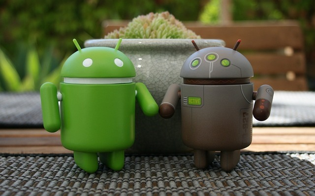 android, couple, computer