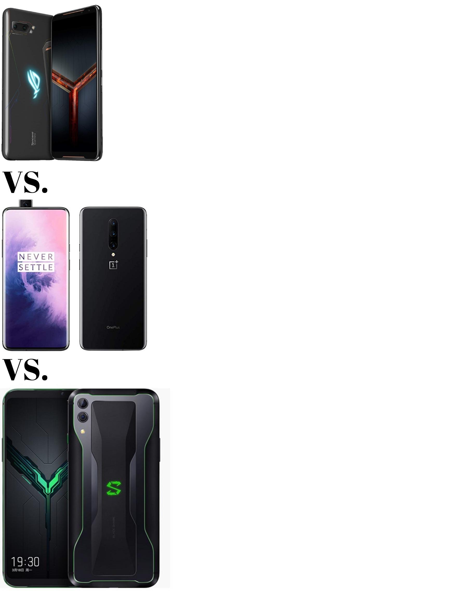 Gaming Phones Battle: Asus ROG Phone 2 vs One Plus 7 Pro vs Xiaomi Black Shark 2