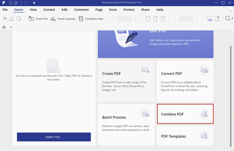 combine pdfs into one