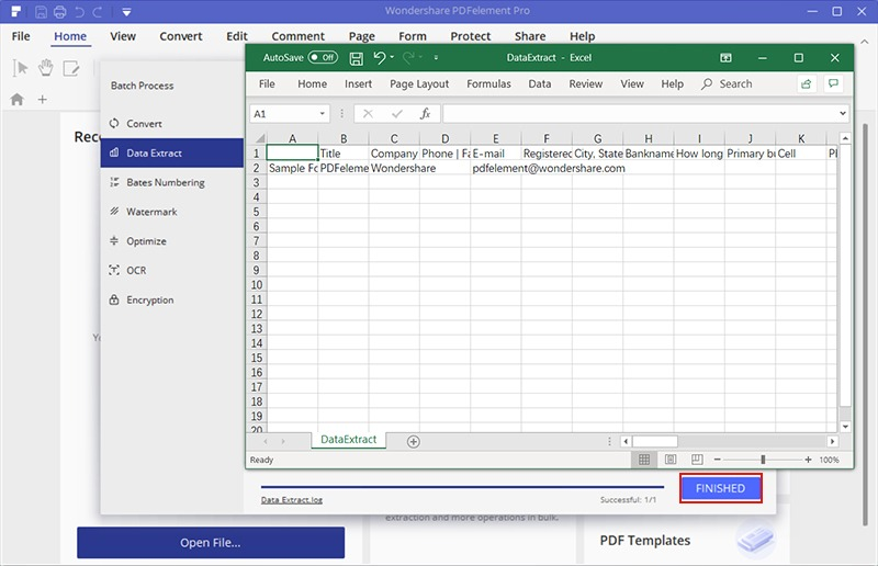 extract table from pdf to excel