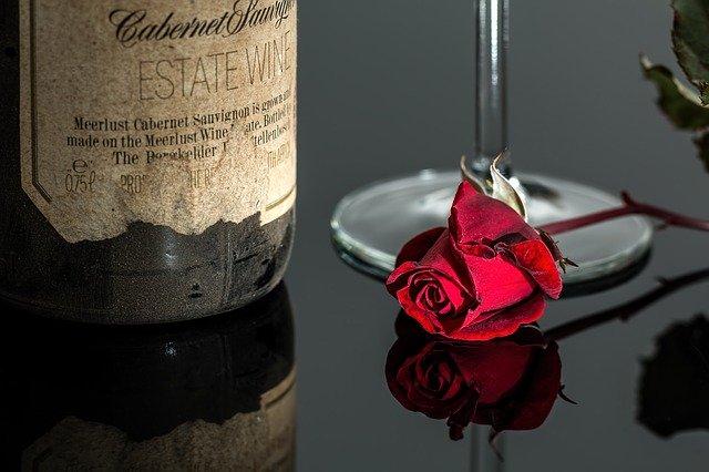 rose, wine, red