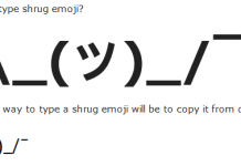 how to type shrug emoji