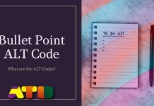 Bullet Point ALT Code