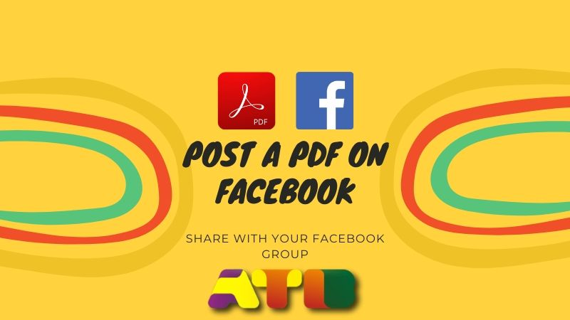 How to Post a PDF on Facebook? Share with Facebook Group