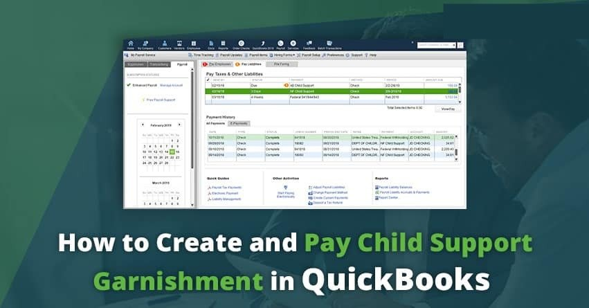 How to Set Up Child Support Garnishment in QuickBooks?