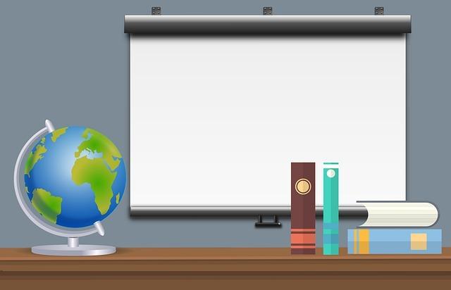 school, classroom, interior