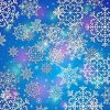 snowflake background, blue, purple