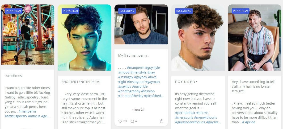 #ManPerm — Instagram Man Perm Hashtag Updates